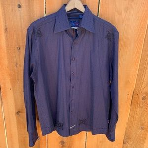 Men's English Laundry Embroidered Shirt Size XL
